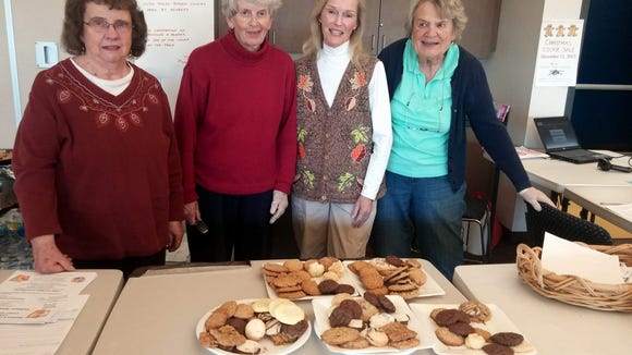 Women's Club of Webster members Gloria Fisler, Liz Baker, Gloria Gonyeo and Nancy McNair staffing the canteen at Thursday's Webster Community Blood Drive. (M. Rosenberry)