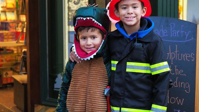 Participants dress in costume for the 24th Portsmouth Halloween Parade on Wednesday, October 31, 2018.