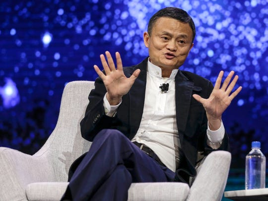 Jack Ma, founder and executive chairman of Alibaba Group is interviewed during Gateway '17 at Cobo Center in June 2017 in Detroit.