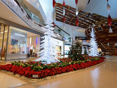 Expect all Strip hotels and casinos to welcome weary travelers in for festive fun, food and frolicking on Christmas. We pick the shows, attractions and shopping destinations to head to on the holiday, like decked out Crystals at CityCenter.