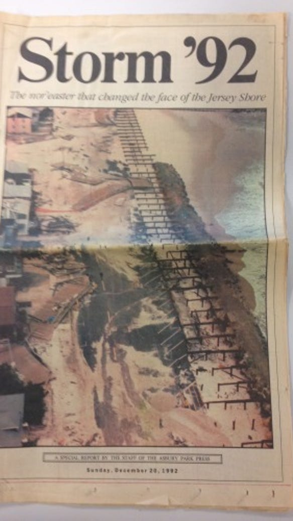 Asbury Park Press special section after the December