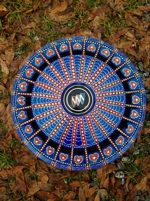 """""""Find Your Heart Hubcap"""" by Shirley Keller"""