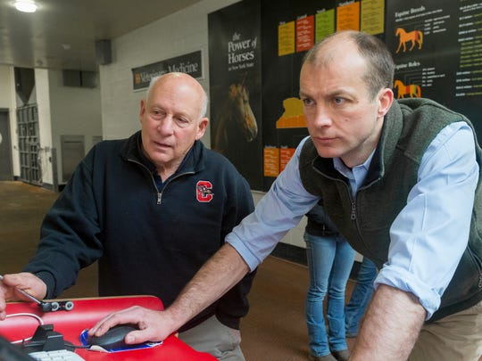 Cornell University Head of Farrier Services Steve Kraus,
