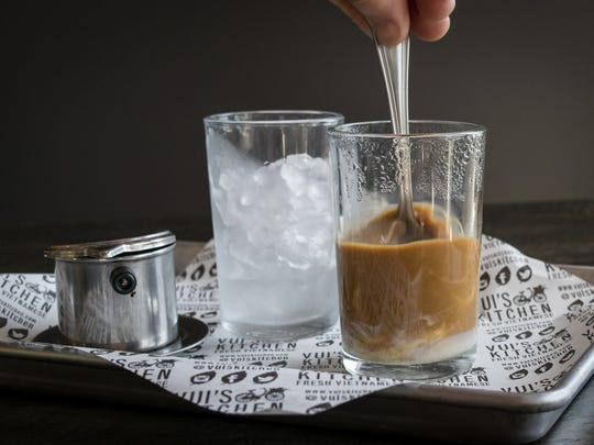 Vietnamese iced coffee at Vui's Kitchen.