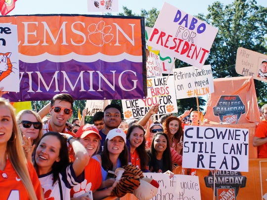 Clemson hosts ESPN College Gameday on Bowman Field prior to their matchup vs. Louisville Saturday, October 1, 2016.