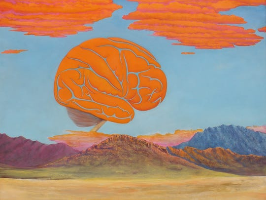 """""""Orange Sunshine"""" by Ben Avant is part of the """"VariousVisions"""" exhibition."""