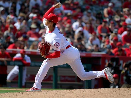 USP MLB: OAKLAND ATHLETICS AT LOS ANGELES ANGELS S BBA LAA OAK USA CA