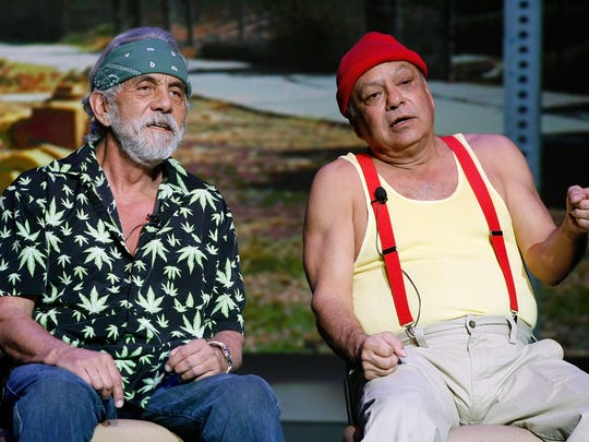 Tommy Chong (L) and Cheech Marin of the comedy duo Cheech & Chong. The duo is at The Capitol Theatre in Port Chester, April 20, 2018