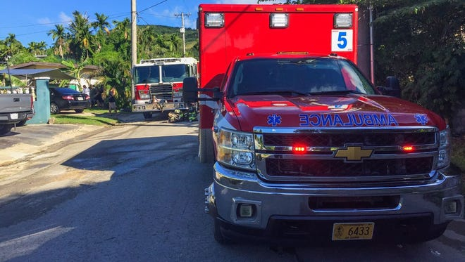 Guam Fire Department units responded to a reported structure fire on Santa Cruz Street in Agat on Nov. 11, 2017.