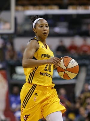 Fever point guard Briann January says she has two small tears in her right shoulder from overseas play.