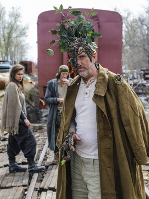 Lou Bolster as Tree Man on set for the film the Last Tree Standing in Fairfield Monday, April 13, 2015.