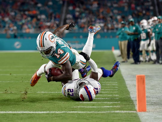 Miami Dolphins wide receiver Jarvis Landry (14) is