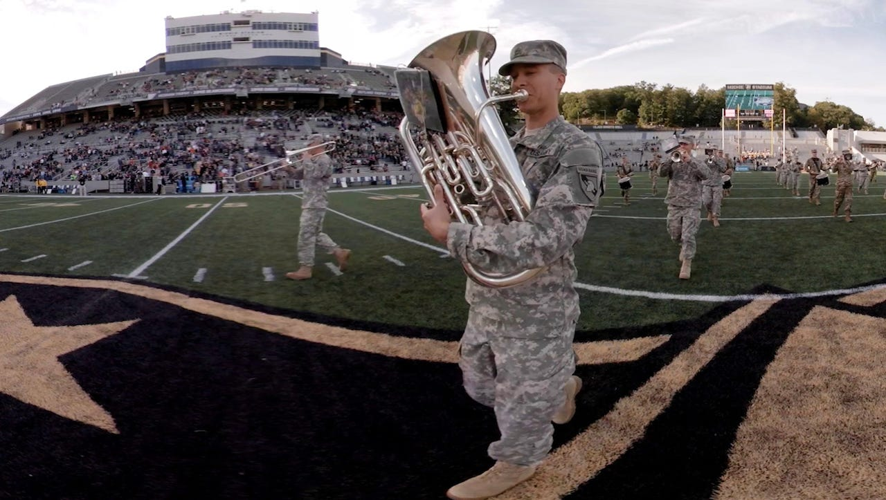 West Point Band turns 200 in advance of Army-Navy game in VR