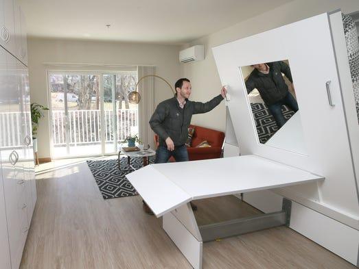 Tim Gokhman, Rhythm apartments developer, shows how