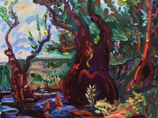 Little River by Julie Bowland art