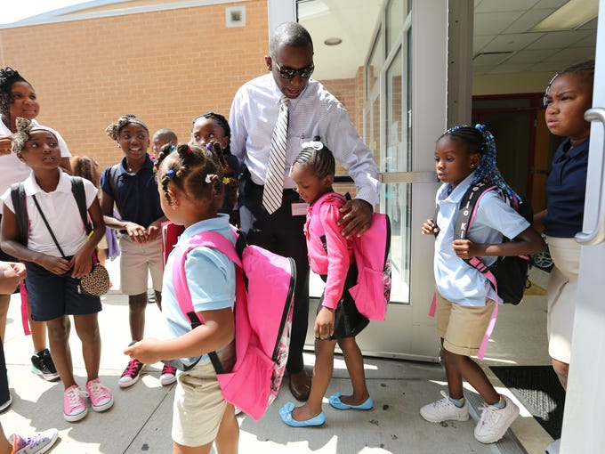 It's the first day of school at Taylor Academy. Principal