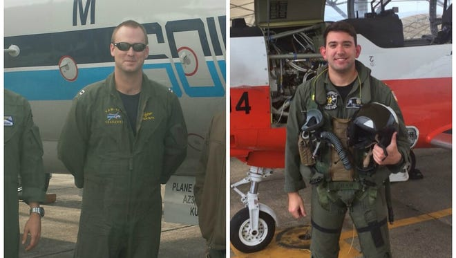 Lt. Patrick L. Ruth (left) and Lt. j.g. Wallace E. Burch