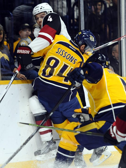NHL: Arizona Coyotes at Nashville Predators