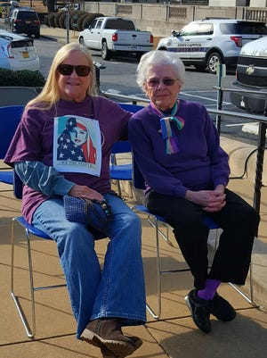 90-year-old Bobbye Adams, right, shown with her daughter, Rebecca Smith, attended the Women's March for Arkansas Saturday, Jan. 21, with more than 7,000 other diverse Arkansans. Her picture on the Women's March for Arkansas Facebook page has more than 600 likes.