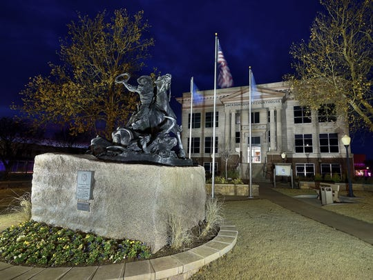 Ben Jacobi's image of the courthouse in Jackson County