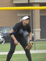 Outfielder Maddi Verbeten is one of three seniors on the Wrightstown softball team this season. She is one of five players with a batting average above .400.