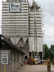 Emergency crews responded to a fire at Prince Corporation,