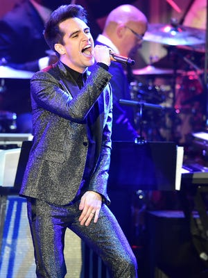 Vocalist Brendon Urie of Panic! at the Disco performs during the annual Clive Davis pre-Grammy gala at the Beverly Hilton Hotel on February 11, 2017.