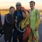 Judy Helfrick, left, with skydiving instructor Chul Yong Lee.