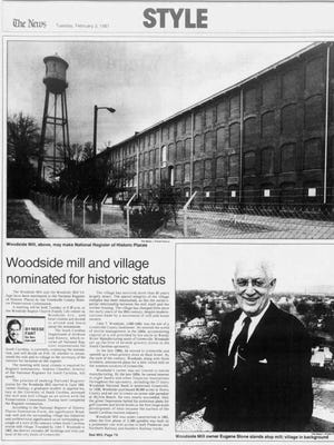An article in The Greenville News on Feb. 3, 1987.