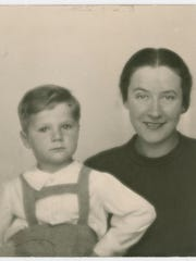 Frank Grunwald and his mother, Vilma, before the Holocaust
