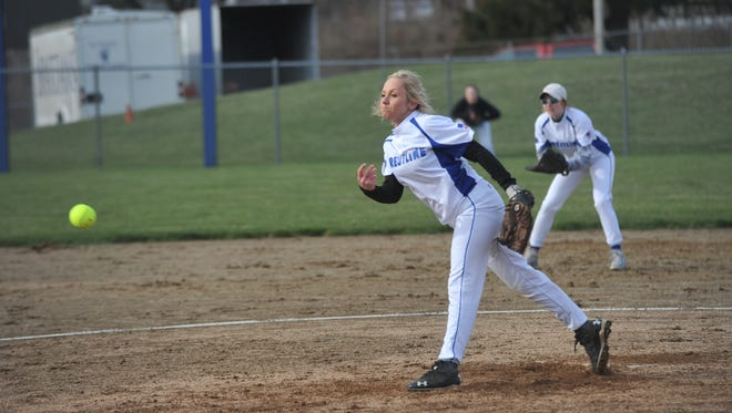 Crestline's Sydney Weisman pitched her first game as a senior against St. Peter's.