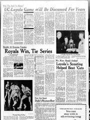 A closer look at our coverage of the 1963 loss to Loyola.