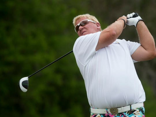 John Daly, shown here from the Chubb Classic in 2017, will return to Naples' PGA Tour Champions event at The Classics Country Club at Lely Resort next week.