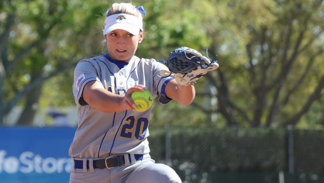 Madison Hope is 12-4 in the circle for SDSU this season.