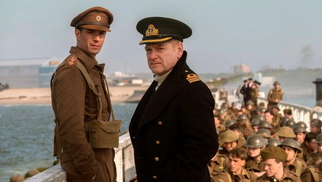 'Dunkirk' scored eight nominations, including best picture and best director for Christopher Nolan, but none for acting.