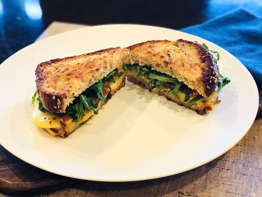 The grilled cheese sandwich at Wildflower Bread Company.