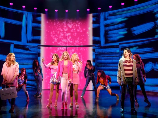 "A scene from ""Mean Girls,"" which received 12 Tony nominations."