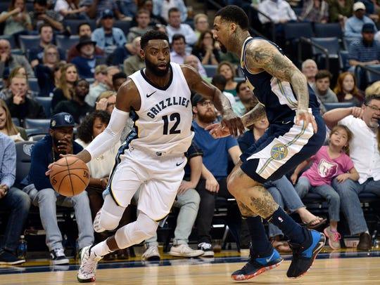 Memphis Grizzlies guard Tyreke Evans (12) drives against