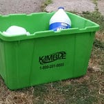 Kimble Recycling donates recycling containers