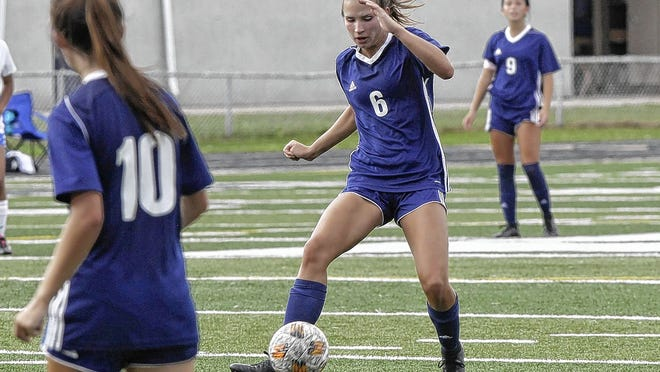 Tayler Pierce of the Grandview Heights girls soccer team controls the ball during a game against visiting Ready on Sept. 12. Pierce, a senior forward, had a team-high nine goals through seven games for the Bobcats, who were 6-0-1 overall and 3-0 in the MSL-Ohio before playing Wellington on Sept. 19.