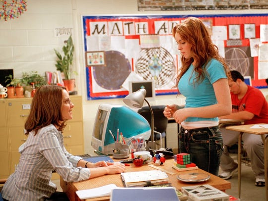 Busted: Math teacher Ms. Norbury (Tina Fey, left) confronts