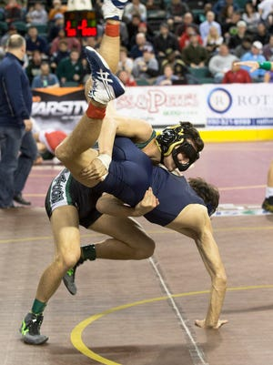 Friday night Preliminary round at NJSIAA State Wrestling Tournament in Atlantic City, NJ on March 4, 2016