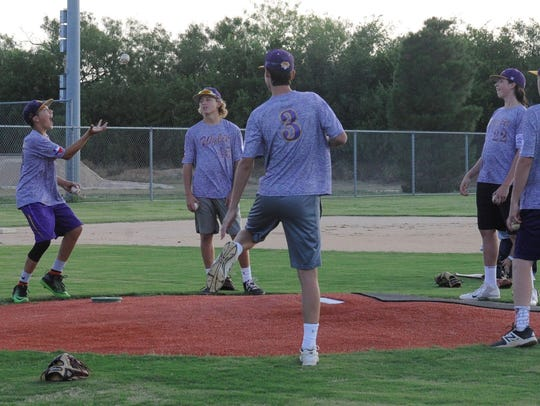 The Wylie Junior League All-Stars have some fun warming