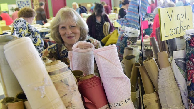 Martha McCartin said she traveled from her home in Bedford County to attend the first day of the Salvation Army Women's Auxiliary Fabric Fair on Wednesday, May 4, 2016 at North Pointe Business Center. The popular three day event provides yarn, patterns and Christmas ornaments for patrons.
