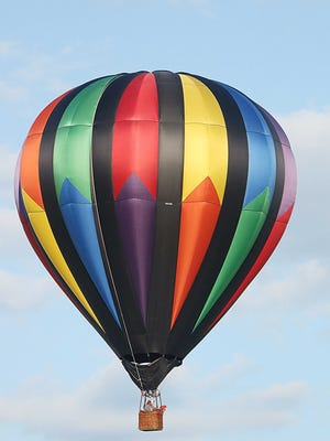 """""""Just-A Dream"""" Balloon decided to take flight over Ashland this morning in the perfect sunny weather. As first time pilot Michael Miller took control's."""