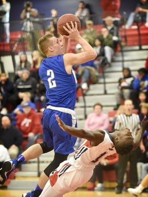 Blake Thomson (2) has helped the Cedar Crest boys to an 8-2 start heading into Friday's Section 1 showdown vs. Hempfield..