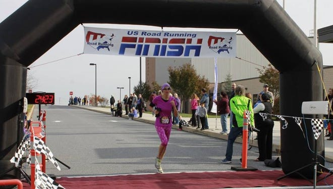 Dover's Amy Goebeler, 42, placed in the overall top-20 at the Haunted House 5K in Mount Wolf on Oct. 24. Goebeler placed fourth in the women's race, finishing in 24 minutes, 23 seconds.