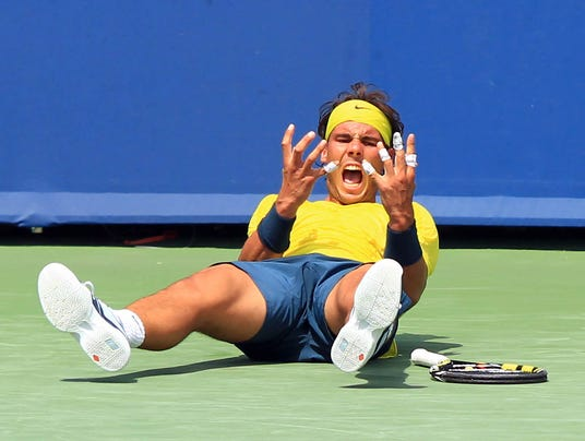 2013-8-18 nadal wins and celebrates