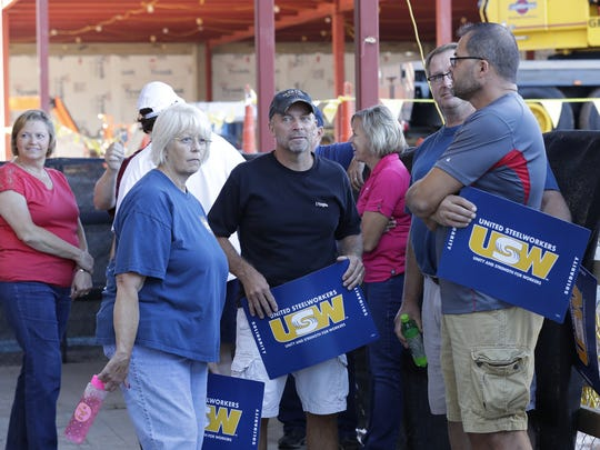 Appleton Coated employees, members of the United Steelworkers