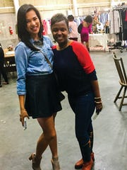 MTSU apparel design student Logan McCage, left, and fashion merchandising student Stephaney Drake have benefited from the university's partnership with the Nashville Fashion Alliance.
